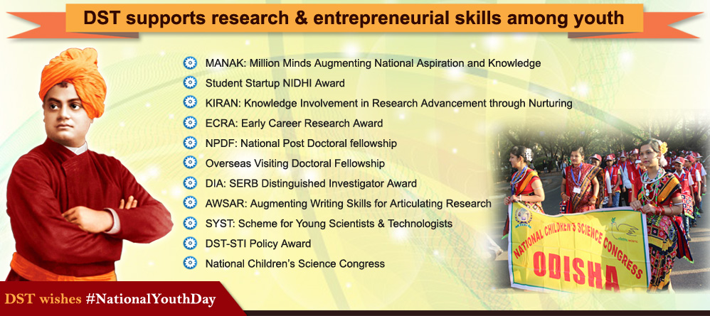 DST supporting research & entrepreneurial skills among youth